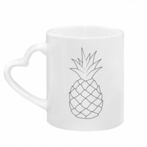 Kubek z uchwytem w kształcie serca Pineapple contour