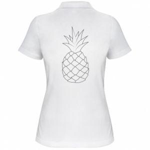 Damska koszulka polo Pineapple contour