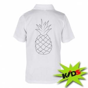 Dziecięca koszulka polo Pineapple contour