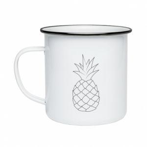 Kubek emaliowane Pineapple contour