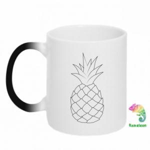 Kubek-kameleon Pineapple contour