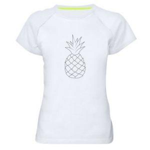 Damska koszulka sportowa Pineapple contour