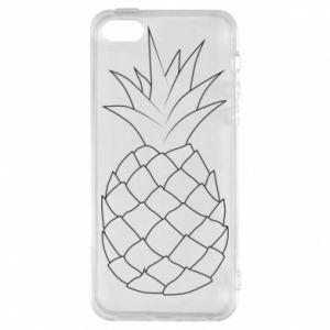 Etui na iPhone 5/5S/SE Pineapple contour