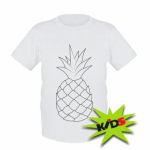 Kids T-shirt Pineapple contour