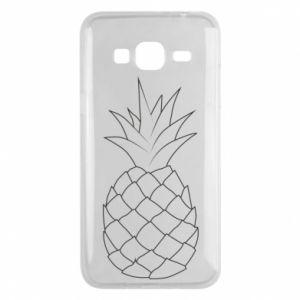 Etui na Samsung J3 2016 Pineapple contour