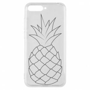 Etui na Huawei Y6 2018 Pineapple contour