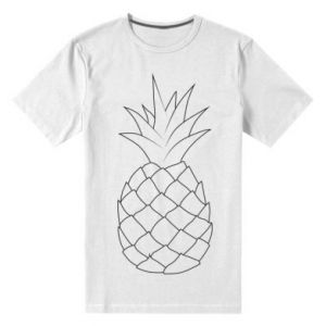 Men's premium t-shirt Pineapple contour