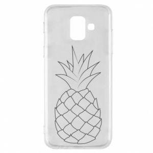 Etui na Samsung A6 2018 Pineapple contour