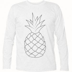 Koszulka z długim rękawem Pineapple contour