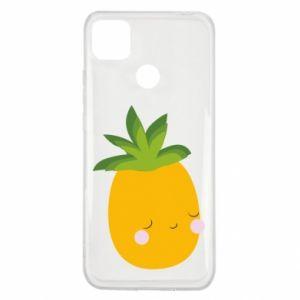 Etui na Xiaomi Redmi 9c Pineapple with face