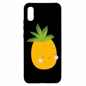 Etui na Xiaomi Redmi 9a Pineapple with face