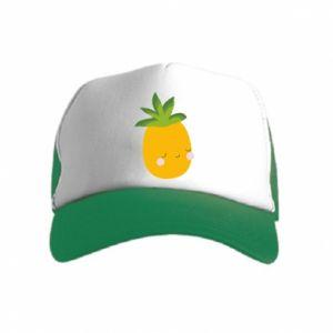 Czapka trucker dziecięca Pineapple with face