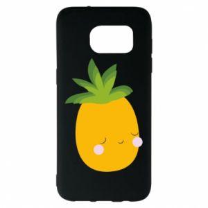 Etui na Samsung S7 EDGE Pineapple with face