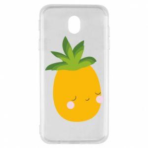 Etui na Samsung J7 2017 Pineapple with face
