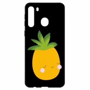Etui na Samsung A21 Pineapple with face