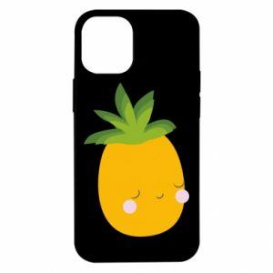 Etui na iPhone 12 Mini Pineapple with face