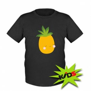 Kids T-shirt Pineapple with face