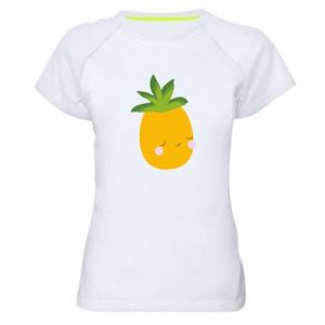 Koszulka sportowa damska Pineapple with face