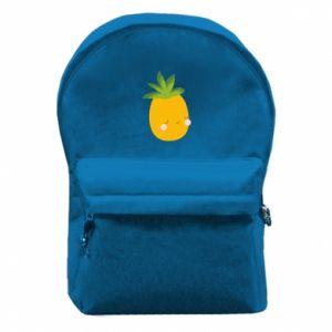 Plecak z przednią kieszenią Pineapple with face