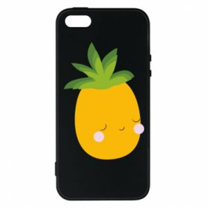 Etui na iPhone 5/5S/SE Pineapple with face