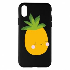 Etui na iPhone X/Xs Pineapple with face