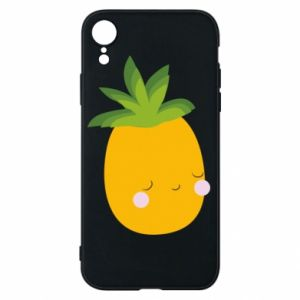 Etui na iPhone XR Pineapple with face