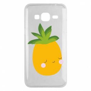 Etui na Samsung J3 2016 Pineapple with face