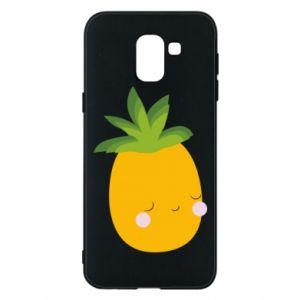 Etui na Samsung J6 Pineapple with face