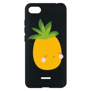 Etui na Xiaomi Redmi 6A Pineapple with face