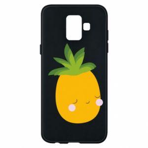 Etui na Samsung A6 2018 Pineapple with face