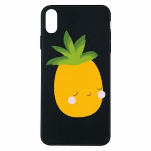 Etui na iPhone Xs Max Pineapple with face