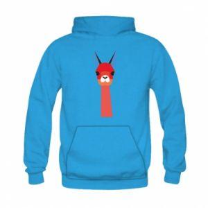 Bluza z kapturem dziecięca Pink alpaca