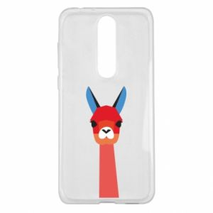 Etui na Nokia 5.1 Plus Pink alpaca