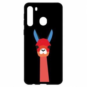 Etui na Samsung A21 Pink alpaca