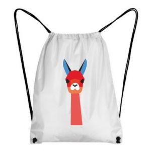Plecak-worek Pink alpaca