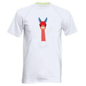 Men's sports t-shirt Pink alpaca