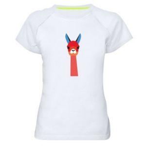 Koszulka sportowa damska Pink alpaca