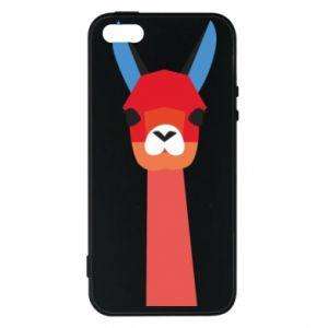 Etui na iPhone 5/5S/SE Pink alpaca