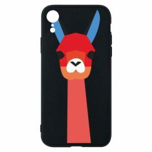 Etui na iPhone XR Pink alpaca