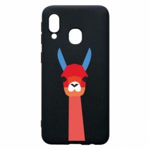 Etui na Samsung A40 Pink alpaca