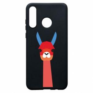 Etui na Huawei P30 Lite Pink alpaca