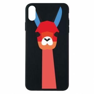 Etui na iPhone Xs Max Pink alpaca