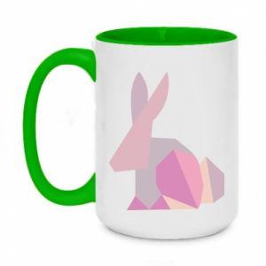 Kubek dwukolorowy 450ml Pink Bunny Abstraction