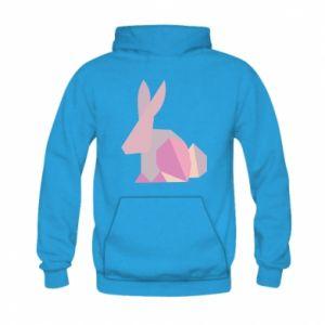 Bluza z kapturem dziecięca Pink Bunny Abstraction