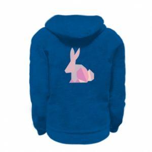 Bluza na zamek dziecięca Pink Bunny Abstraction