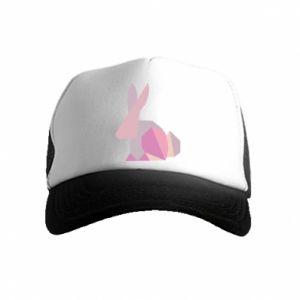 Czapka trucker dziecięca Pink Bunny Abstraction