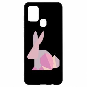 Etui na Samsung A21s Pink Bunny Abstraction