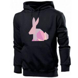 Męska bluza z kapturem Pink Bunny Abstraction