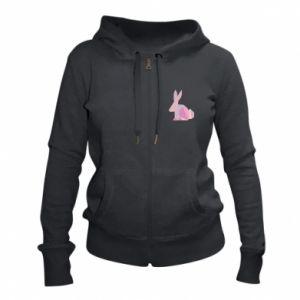 Damska bluza na zamek Pink Bunny Abstraction