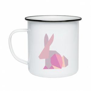 Kubek emaliowane Pink Bunny Abstraction